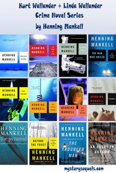 Henning Mankell books with the Kurt Wallander crime series