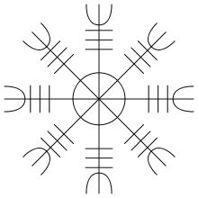 Helm of Awe (ægishjálmr) - magical symbol worn by Vikings for invincibility. Modern day use by Ásatrú followers for protection.