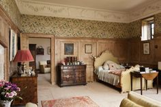 Lady Brunner's Bedroom at Greys Court, Oxfordshire Sleep Tight, Historic Homes, Beautiful Bedrooms, Valance Curtains, Boudoir, Castle, Grey, Manor Houses, Palace
