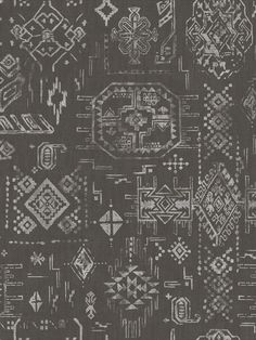 This soft focus Aztec style design in black has a lovely woven fabric look. This wallpaper could be used to create a striking feature wall or to decorate an entire room. This high quality wallpaper benefits from being a paste the wall paper, which means it is incredibly easy to apply and work with whilst decorating. It will also stand the test of time and is easy to remove at a later date. Aztec Designs, Geometric Designs, Adhesive Wallpaper, Wallpaper Roll, Pastel Colors, Bold Colors, Fantastic Wallpapers, Geometric Wallpaper, Gray