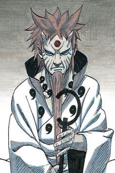 (大筒木ハゴロモ, Ōtsutsuki Hagoromo) || (六道仙人, Rikudō Sennin) || (忍の神, Shinobi no Kami) || (この世の救世主, Kono Yo no Kyūseishu)