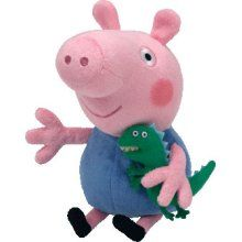 Love this George Pig Beanie Baby by Peppa Pig on George Pig, Baby George, Ty Beanie Boos, Beanie Babies, Stuffed Animals, Dinosaur Stuffed Animal, Pet Toys, Kids Toys, Children's Toys