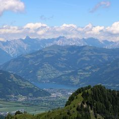 Vista of Lake Zell from Kitzsteinhorn Kaprun Beautiful & acessible hikes & walks- 15 min drive from Kaprun