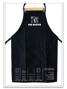 BBQ Master Aprons feature an upside down chart that includes the perfect grilling times and temperatures for your favorite foods for the grill Cooking Basmati Rice, Cooking Wild Rice, Cooking Panda, Cooking Wine, Cooking On The Grill, Cooking With Kids, Cooking Turkey, Grill Apron, Bbq Apron