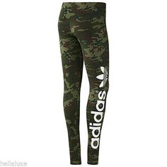 normally i don't like adidas that much... but...CAMOUFLAGE look is allways great!!!! Adidas B Ball Trefoil Leggings Camo Tights Yoga Running Pant Workout Womens Sz M | eBay
