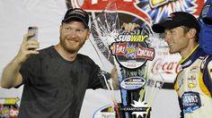 Dale Jr. And Kasey Kahne - 2014 Daytona Nationwide win