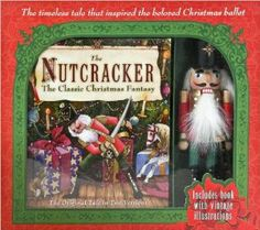 """Nutcracker Doll with Classic Christmas Book by Fall River. $72.64. Decorative 8 inch nutcracker. Lavishly illustrated book. Read the full story of the gallant Nutcracker Prince, and revel in the magic of a delightful Christmas tradition. The Nutcracker: The Classic Christmas Fantasy features two rare versions of the holiday tale that was adapted for Tchaikovsky's classic ballet, The Nutcracker. E.T.A. Hoffmann's original fairy tale, """"The Nutcracker and the Mouse Ki..."""