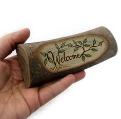 Rustic Organic Natural Magnolia Branch Welcome Small by tanjasova, $23.00