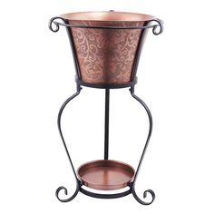 Etched Copper Beverage Tub with Stand - 9360, Old Dutch International