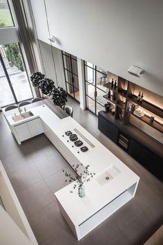 Kitchen design by Culimaat. Gas hobs by PITT cooking Luxury Kitchen Design, Kitchen Room Design, Home Room Design, Dream Home Design, Home Decor Kitchen, Modern House Design, Interior Design Kitchen, Home Kitchens, Kitchen Designs