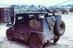 Gun Jeep 'Wolfman.' South Vietnam 1968