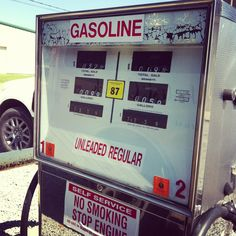 Day 163: Went to fill up the church van today.  These pumps always make me smile!