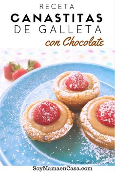 Rica receta de Canastitas de Galleta con Chocolate #mixinmoments [AD]
