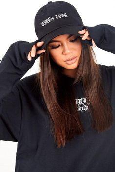 Girls Tour Old English Hat Black