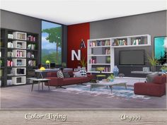 Color Living by ung999 at TSR via Sims 4 Updates
