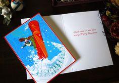 2014 Christmas Series from Caspari   illustration by Masaki Ryo.
