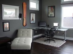 Modern home office room ideas cool office decorating ideas for men with true beauty and elegance office interiors with white rug modern home office decor Small Office Design, Office Interior Design, Home Office Decor, Office Interiors, Home Interior, Home Decor Bedroom, Office Ideas, Men Bedroom, Office Furniture