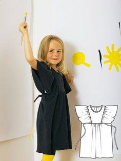 Sew up this adorable dress by BurdaStyle Admin. DIY sewing clothing for kids. Great gift ideas.