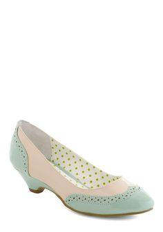 Sweet Spectator Heel - Blue, Pink, Fairytale, Color Block, Cutout, Work