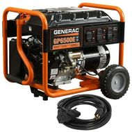 Generac GP Series 6515 6500W Electric Start Portable Generator With 30A Power Cord