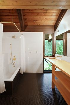 Japanese-Inspired Bainbridge Island house Children's bathroom