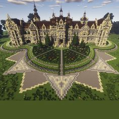 A nation crafted Minecraft Castle Blueprints, Villa Minecraft, Cute Minecraft Houses, Minecraft Garden, Minecraft Mansion, Minecraft Structures, Amazing Minecraft, Minecraft House Designs, Minecraft Architecture