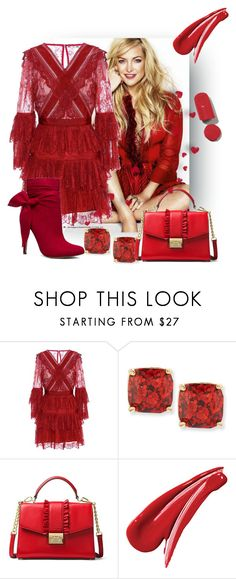 """""""red cloud"""" by princhelle-mack ❤ liked on Polyvore featuring self-portrait, Kate Spade and MICHAEL Michael Kors"""