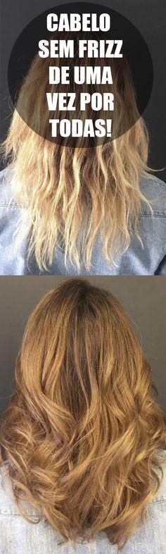 Cabelo sem frizz de uma vez por todas Top cabeleireiros ensinam como ter cabelos saudáveis e brilhosos! Veja como tirar os temidos fios que ficam arrepiados na sua cabeça