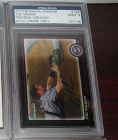 2010 BOWMAN CHROME JOE MAUER SIGNED AUTO CARD #126 PSA 9 MINT Minnesota Twins #MinnesotaTwins