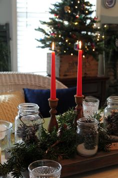Rustic Dining Room Decorated For Christmas - Love My Simple Home Rustic Western Decor, Winter Wonderland, Simple House, Christmas Love, House Tours, Dining Room, Christmas Decorations, Candles, Xmas Trees
