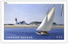 """Edward Hopper's """"The Long Leg"""" (1935) • part of the USPS collection • 2011"""