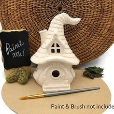Mushroom Snail Shack Fairy House Ceramic Bisque Ready to | Etsy Ceramic Bisque, Ceramic Clay, Pottery Painting, Ceramic Painting, Pumpkin Fairy House, Ready To Paint Ceramics, Autumn Fairy, Pottery Shop, Paint Your Own Pottery