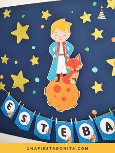 Kit imprimible para fiestas temáticas El Principito #kitimprimible #partyideas #party #elprincipito #primerañito #baby #ideas #fiestas #fiestasinfantiles #littleprince #fraseselprincipito Baby Shower Fun, Shower Party, Baby Shower Parties, Baby Shower Themes, Shower Ideas, Little Prince Party, The Little Prince, Party In A Box, Party Kit