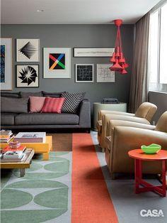 sala de estar com sofá cinza - Pesquisa Google                              …