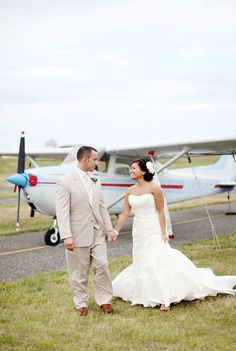 Different wedding/plane photos