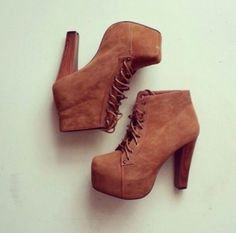 a6e4bcf49b35 Fall Boots Wheretoget - Brown boots lace up high heels