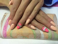 Lovely peach and pink shellac