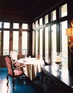 The dining room at the Four Seasons Resort Nevis.