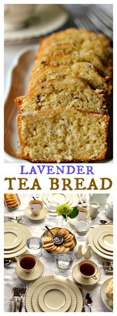 Downton Abbey Lavender Tea Bread INGREDIENTS: 3/4 cup milk 3 Tbsp. fresh lavender, finely chopped 6 Tbsp. butter, softened 1 cup white sugar 2 eggs 1/2 tsp. vanilla 2 cups all-purpose flour 1 1/2 tsp. baking powder 1/2 tsp. salt 1/3 cup sifted powdered sugar 1 teaspoon water 1/4 teaspoon vanilla extract