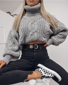Style Vestimentaire Ado 60 Ideas For 2019 Mode Outfits, Winter Fashion Outfits, Cute Fashion, Look Fashion, Girl Outfits, Sweater Fashion, Fashion Spring, Cold Day Outfits, Casual Fall Outfits
