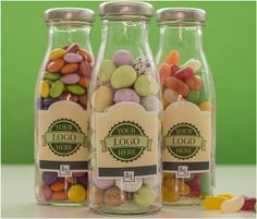 If you have a business you want to promote our glass jars of sweets are ideal