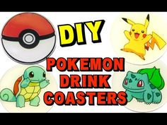 Pokemon Coasters DIY ~ How To ~ Another Coaster Friday ~ Craft Klatch - YouTube