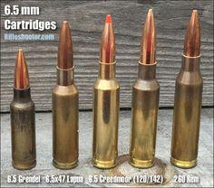 6.5mm accuracy cartridges 6.5x47 Lapua 6.5 creedmoor 6.5 Grendel
