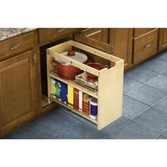 10-3/4x19-1/2x22-1/8 In. Findit Birch Kitchen Storage Cabinet Organization…