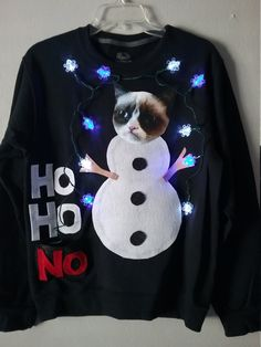 ugly christmas sweater Grumpy Cat Contest Winner by Thecostumestop