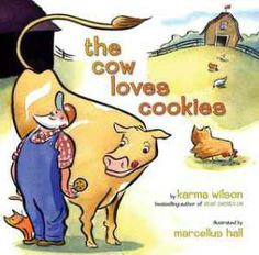 The Cow Loves Cookies by Karma Wilson illustrated by Marcellus Hall Thank you for reading with me Story Time Bunnies Books To Read, My Books, Before Kindergarten, Kindergarten Classroom, Preschool Books, Preschool Ideas, Preschool Alphabet, Preschool Farm, Teaching Ideas