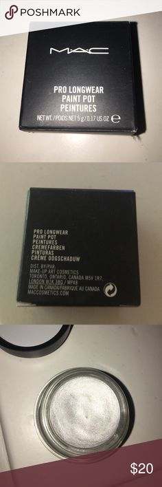 NIB pro long wear paint pot chrome angel only swatched once or twice MAC Cosmetics Makeup Eye Primer