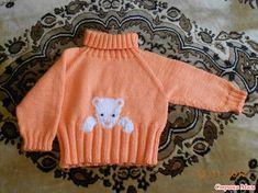 Этот свитер связан уже много-много раз. Наконец подошло и моё время связать его для дочери. Жду единомышленников  Вот оригинальное описание:  Схема мишки покрупнее: