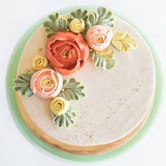 Signature Buttercream Flower Cake top view.jpg