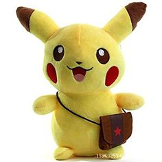 Stuffed Pokemon Pikachu  Plush Animal Thats Suitable For Babies and Children  Perfect Birthday Gifts  Toy Doll for Baby Kids and Toddlers *** More info could be found at the image url.Note:It is affiliate link to Amazon.